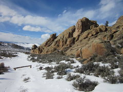 Rock Climbing Photo: A winter view of the wall from the Tiger Wall area...