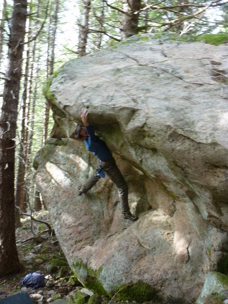Rock Climbing Photo: Problem: Knowing is Half the Battle (tenative V3) ...