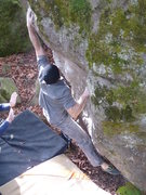Rock Climbing Photo: Undertow Boulder  harder than V3 variation of Unde...