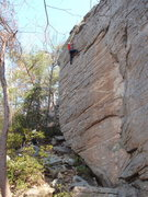 Rock Climbing Photo: Brandon sticking it!