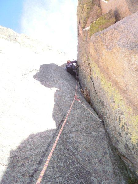 Rock Climbing Photo: 1st pitch crux.