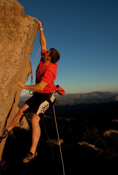 Rock Climbing Photo: Greg Horvath making the dyno to the lip.  Photo by...