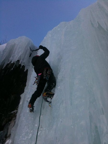 Rock Climbing Photo: Kirill slaying the second to last pitch. Short, st...