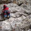My little friend Jamie (age 4) FIRST LEAD CLIMB !!!