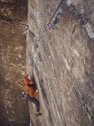 Rock Climbing Photo: Jon Crefeld on the thin first pitch crux of Ixtlan...