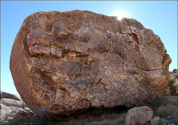 A random giant boulder, Joshua Tree.<br> Photo by Blitzo.