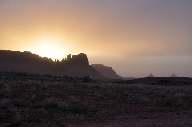 Rock Climbing Photo: Bridger Jack dust storm