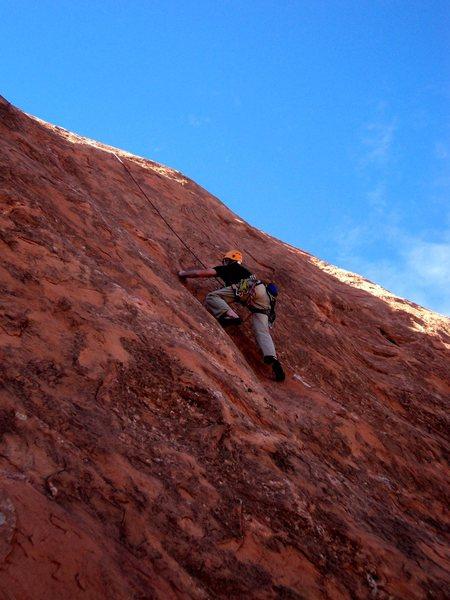Rock Climbing Photo: Dave climbing in the shade.