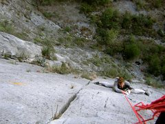 Rock Climbing Photo: Cody on the first pitch. For more information abou...