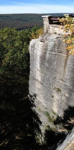 Rock Climbing Photo: The obvious arete under the railing post on top.
