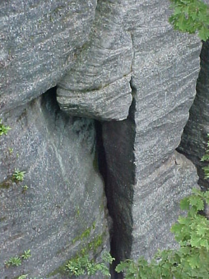 Rock Climbing Photo: The crack gets wide in areas.