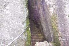 Rock Climbing Photo: The lower section of the staircase that leads thro...