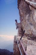 Rock Climbing Photo: Cima Piccola Pitch 7 traverse