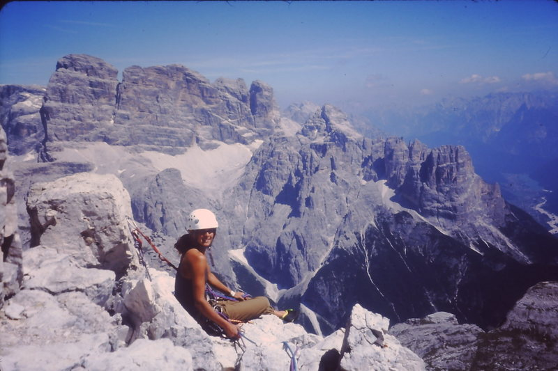 Rock Climbing Photo: Cima Piccola Start of the rappel