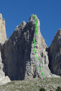Rock Climbing Photo: Second Sella Tower North West Ridge