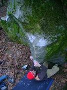 Rock Climbing Photo: Jer on the start