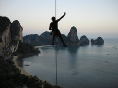 Rock Climbing Photo: Rapelling from Monkey See Monkey Do... Note:very f...