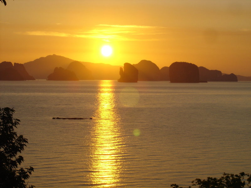 Rock Climbing Photo: Sunrise on Koh Yao Noi