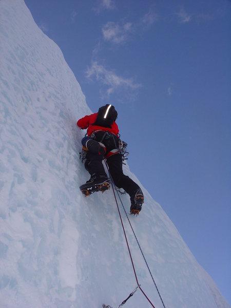 Rock Climbing Photo: Joe Tebbe leading, pitch 1, Stairway to Heaven, 2-...