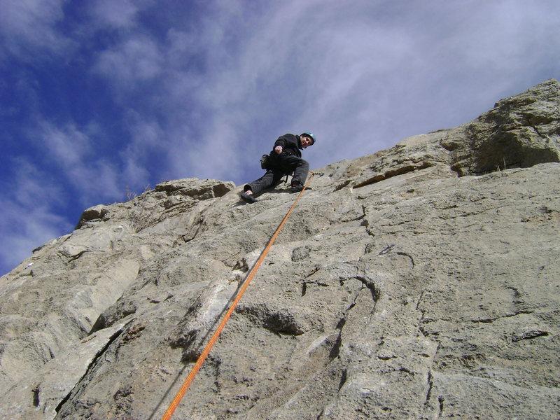 Palomas Peak limestone cliffs