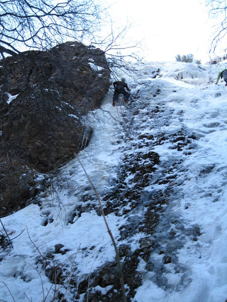 maple canyon climb, first ice climb