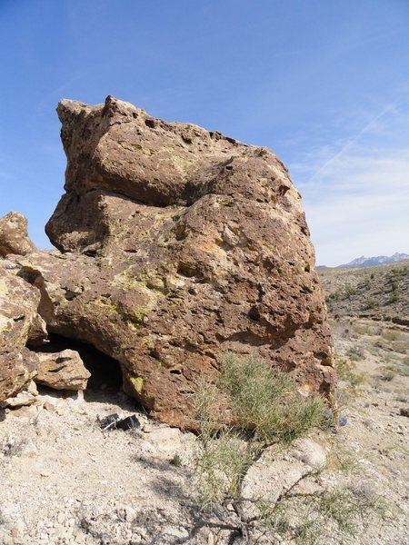 Slaughterhouse Boulder left (South) face