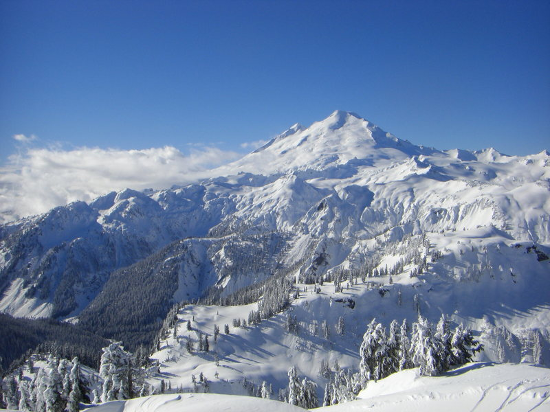 Rock Climbing Photo: Mt. Baker on a sunny day in February.