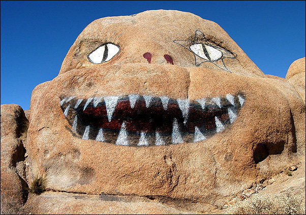 Rock Climbing Photo: A painted rock alond Whitney Portal Road. Photo by...