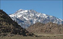 Rock Climbing Photo: Mt. Williamson. Photo by Blitzo.