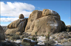 Rock Climbing Photo: Earth Fiest Rock after a light snow. Photo by Blit...