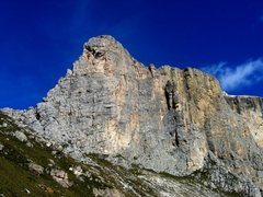Rock Climbing Photo: South side of the First Sella Tower.  West Ridge (...