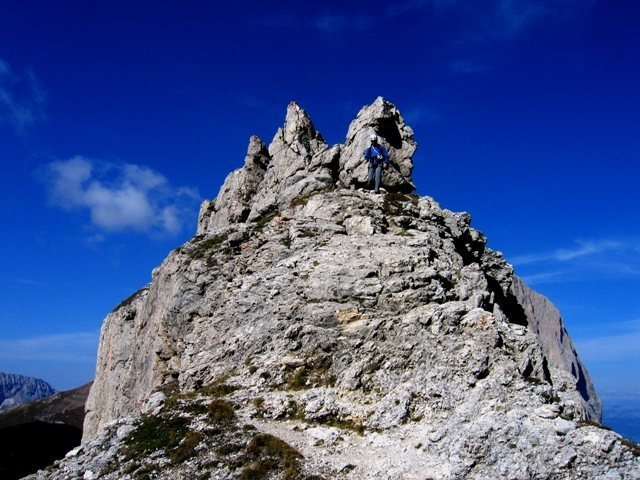 Rock Climbing Photo: Summit of the First Sella Tower.