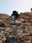Rock Climbing Photo: Climbing up the first pitch of the Steger Route on...