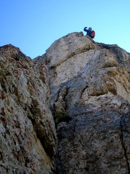 Last pitch of the Steger Route.  Photo by Matt.