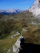 Rock Climbing Photo: Looking down the West Ridge of the First Sella Tow...