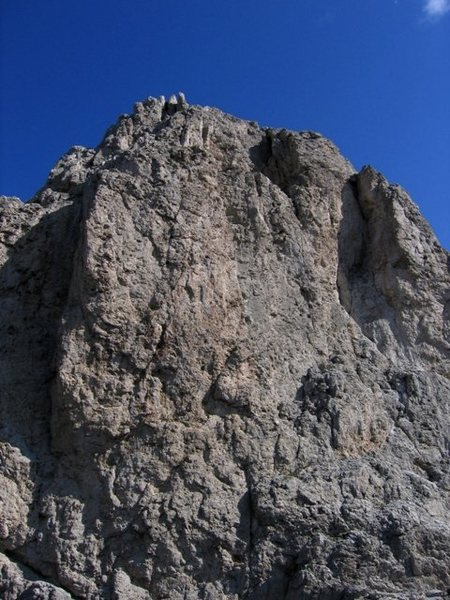 Rock Climbing Photo: Southwest face of the Second Sella Tower