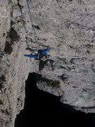 Rock Climbing Photo: Coming up the stellar second pitch of the Kostner ...