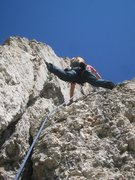 Rock Climbing Photo: Starting up the fun second pitch of the Kostner ro...