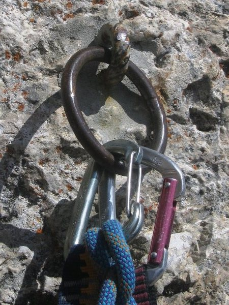 Kostner belay anchor:  a Dolomitti standard!