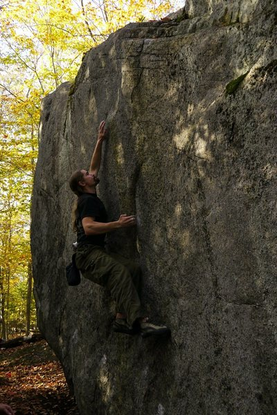 Rock Climbing Photo: Thrust Fault, although only V3 this is a must do p...