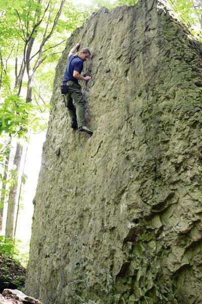 Bouldering at Niagara Glen<br> <br>