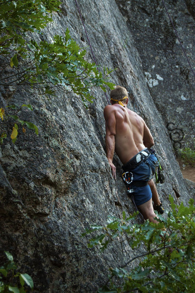 Rock Climbing Photo: Left of graduation crack in Noname, CO