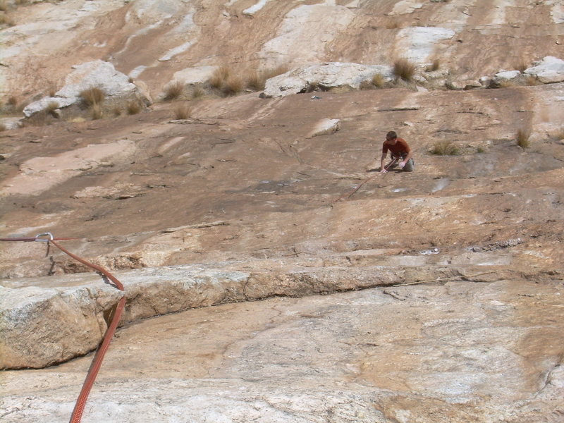 "Rock Climbing Photo: Wyatt following the very ""R"" second pitc..."