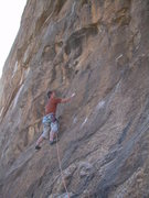 Rock Climbing Photo: Moving into the huecos higher up