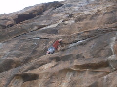 Rock Climbing Photo: Nearing the end of the 4th pitch