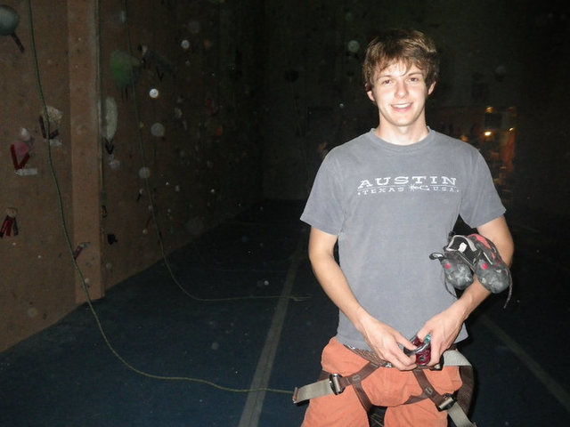 Rock Climbing Photo: Myself climbing at Hoosier Heights in Bloomington,...