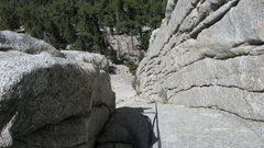 Rock Climbing Photo: Looking down from the top of the second pitch of W...