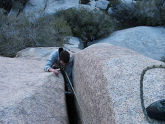 Rock Climbing Photo: Cleaning the Big Bro on Hex Marks the Poot 5.7