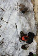 Rock Climbing Photo: lacing up