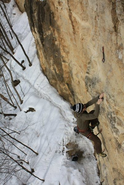 Middle crux section.